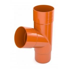 Трійник труби Bryza 125 245х90,2х90,2х84,5 мм цегляний