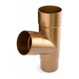 Трійник труби Bryza 125 245х90,2х90,2х84,5 мм мідний