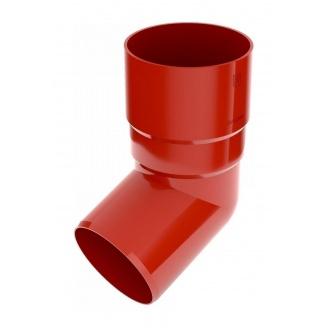 Коліно труби Bryza 125 67 градусів 90,2х145х84,5 мм червоний