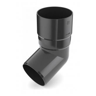 Коліно труби Bryza 125 67 градусів 90,2х145х84,5 мм графіт