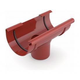 Лійка ринви зливна Bryza 125 280х90 мм червоний