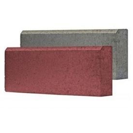 Вибропрессованный бордюр 60x200x500 красный