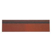 Коньково-карнизная черепица Shinglas 250х1000 мм красный