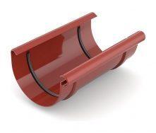 Муфта желоба Bryza 125 240 мм красный