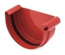 Заглушка желоба правая Bryza R 100 мм красный