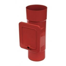 Люк для чистки Bryza 125 110,4х104,5 мм красный