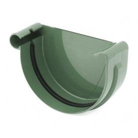 Заглушка ринви ліва Bryza L 75 мм зелений