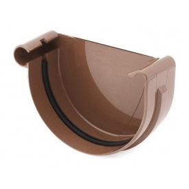 Заглушка ринви ліва Bryza L 150 мм коричневий