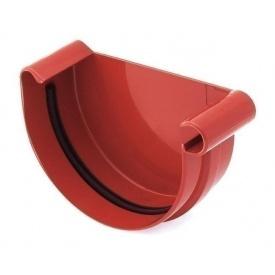 Заглушка ринви права Bryza R 125 мм червоний