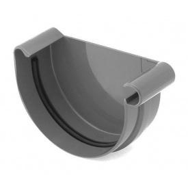 Заглушка ринви права Bryza R 100 мм графіт