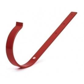 Тримач ринви прямий Bryza 100 190х100х4 мм червоний