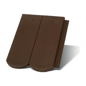 Цементно-песчаная черепица Terran Рундо ColorSystem коричневая