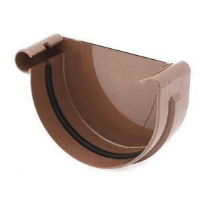 Заглушка желоба левая Bryza L 150 мм коричневый