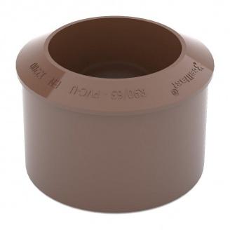 Переходник трубы Bryza 125 90,2х63,2 мм коричневый