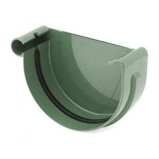 Заглушка желоба левая Bryza L 125 мм зеленый