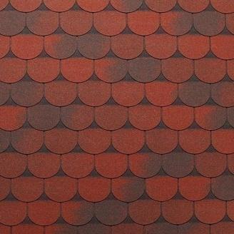 Битумная черепица Tegola Super Traditional 1000х340 мм красный гранит