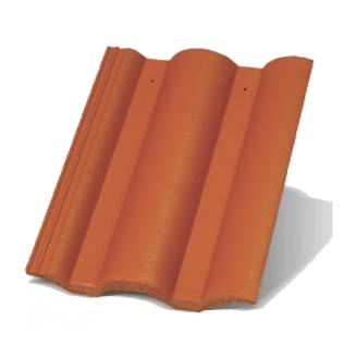 Цементно-песчаная черепица Terran Данубиа ColorSystem кирпичная