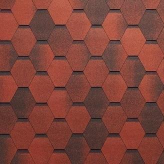 Битумная черепица Tegola Super Mosaic 1000х337 мм красный гранит