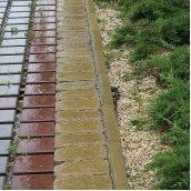 Поребрик Золотой Мандарин 1000х200х60 мм горчичный на сером цементе
