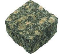 Колотая брусчатка из маславского гранита 10х10х5 см зеленая