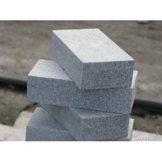 Тротуарна плитка Покостовський граніт натуральна 20х10х3-5 см сіра