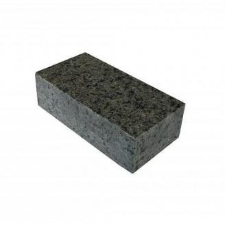 Тротуарна плитка з Маславського граніту 20х10х3-5 см темно-зелена