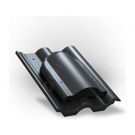 Вентилятор подкровельного пространства Wirplast Tile P60 285x210 мм черный RAL 9005