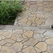 Отлив Золотой Мандарин 500х200х60 мм персиковый  на сером цементе