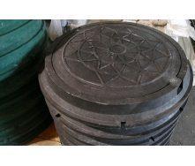Канализационный полимер-композитный люк 3 т черный