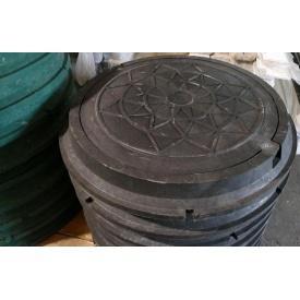 Каналізаційний полімер-композитний люк 3 т чорний