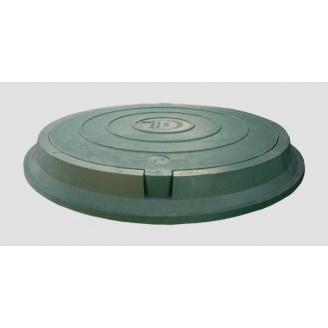 Полимеркомпозитный люк без замка 3 т зеленый
