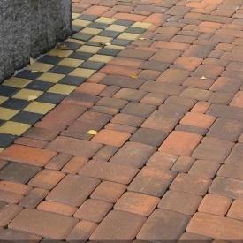 Тротуарна плитка Золотий Мандарин Старе місто 120х40 мм сієна