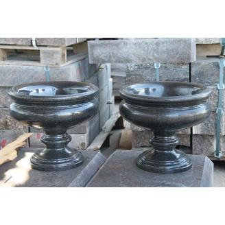 Точеная ваза из натурального природного камня 20х30 см