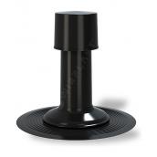 Вентиляционный выход Wirplast К40 75 мм черный RAL 9005