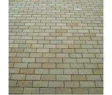 Тротуарная плитка Золотой Мандарин Кирпич стандартный 200х100х40 мм горчичный на белом цементе