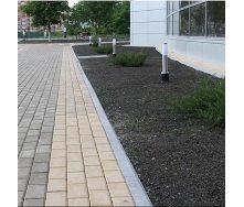 Тротуарная плитка Золотой Мандарин Кирпич стандартный 200х100х80 мм на сером цементе персиковый