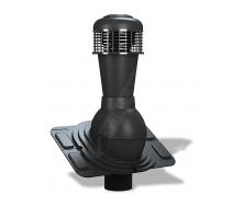 Вентиляционный выход Wirplast Uniwersal К44 110x500 мм черный RAL 9005