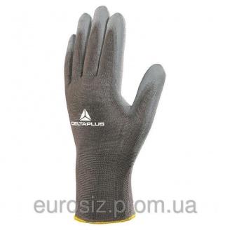 Перчатки рабочие DELTA PLUS с полиуретановым покрытием VE702GR