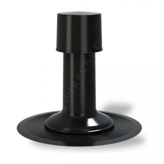 Вентиляційний вихід Wirplast К40 75 мм чорний RAL 9005
