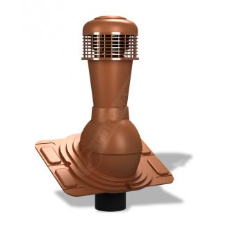 Вентиляционный выход Wirplast Uniwersal К44 110x500 мм кирпичный RAL 8004