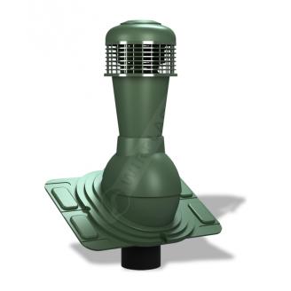 Вентиляционный выход Wirplast Uniwersal К44 110x500 мм зеленый RAL 6020