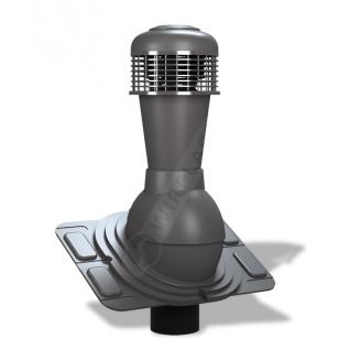 Вентиляционный выход Wirplast Uniwersal К44 110x500 мм графитовый RAL 7024