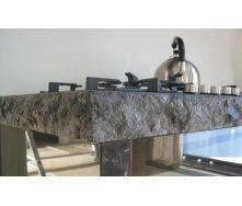 Каменная столешница из лабрадорита Galactic Blue Exclusive 90х220х5 см