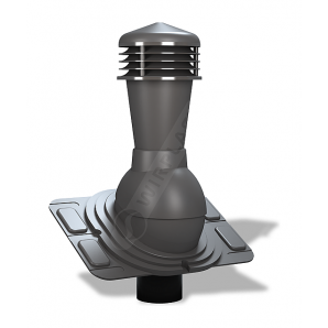 Вентиляционный выход Wirplast Uniwersal К25 110x500 мм графитовый RAL 7024