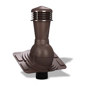 Вентиляционный выход Wirplast Uniwersal К25 110x500 мм коричневый RAL 8017
