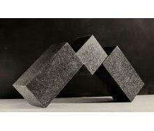 Тротуарна плитка Габро гранітна декоративна 20х10х3-5 см чорна