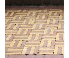 Тротуарна плитка Золотий Мандарин Барселона Антик 192х45х60 мм гірчичний на сірому цементі