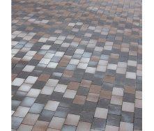 Тротуарна плитка Золотий Мандарин Цегла без фаски 200х100х60 мм коричневий на білому цементі