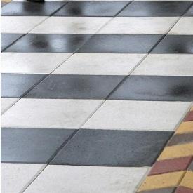 Тротуарна плитка Золотий Мандарин Плита 400х400х60 мм на білому цементі білий