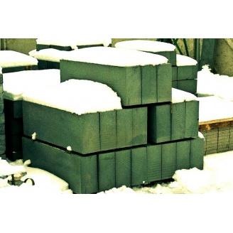 Бордюр дорожный из натурального гранита с фаской 100х30х15 см зеленый